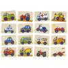 Goki Fa memória játék, járművek