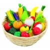 Goki Fa játék zöldségek és gyümölcsök kosárban