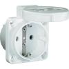 PCE Védőérintkezős gép dugaszoló aljzat, 230 V/AC 16 A IP54, fehér, PCE 601.450.02