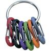 Nite Ize Kulcskarika, fekete, 6 színű karabínerrel NI-KRG-03-11 Kulcstartó karika, 6 S-Biner NITE Ize