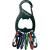 Nite Ize Kulcstartó, fekete, 6 színű karabínerrel NI-KRB-03-01 KeyRack 6 S-Biner NITE Ize