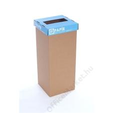 Szelektív hulladékgyűjtő, újrahasznosított, 60 l, RECOBIN Slim, kék (URE002) szemetes