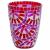 TIFFANY mécsestartó vörös/pink 12cm