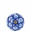 Open bútorgomb 5cm kerámia kerek kék
