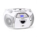 Auna Beeboy, rádiórekorder, CD, MP3, USB, fehér