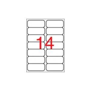 APLI 2 pályás etiket 99,1x38,1mm 140 átlátszó