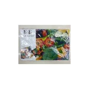 Tányér és csészealátét szett, zöldségek, 6db-os