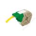 Leitz Etikett, folyamatos, műanyag, öntapadó, 12 mm x 10 m, LEITZ Icon sárga (E70150015)