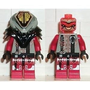 LEGO UFO Alien Piros