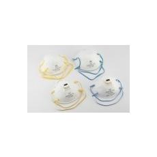 Csésze formájú FFP1-es szelepes maszk orrcsíptetővel és gumipánttal