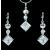 4 karátos szimulált gyémánt ékszerszett 18k fehérarany bevonattal + AJÁNDÉK DÍSZDOBOZ (1610 .)
