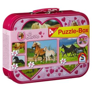 Lovak 2 x 26 és 2 x 48 darabos puzzle
