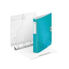 """Leitz Gyűrűs könyv, 4 gyűrű, D alakú, 52 mm, A4, PP, LEITZ """"Active Wow"""" jégkék irodai kellék"""
