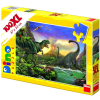 Dino Puzzle 100 db XL Dinosaurus