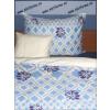 Kék álom pamutszatén ágyneműhuzat garnitúra, 5 részes