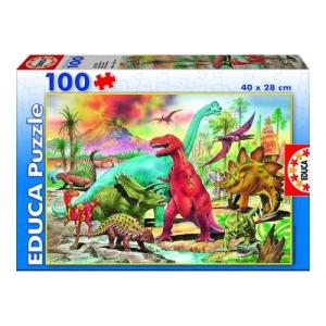Educa Dinoszauruszok puzzle, 100 darabos