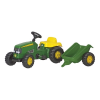 Rolly Toys Rolly Kid John Deere pedálos traktor utánfutóval
