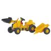 Rolly Toys Rolly Kid CAT pedálos markolós traktor utánfutóval