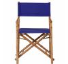 BOLLYWOOD rendezői szék bambusz kék kerti bútor