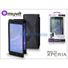 Made for Xperia MUVIT Sony Xperia Z3 (D6603) flipes tok - Made for Xperia Muvit Window Folio - black