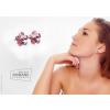 Saját készítésű ékszer Swarovski Swarovski virág alakú  bedugós fülbevaló