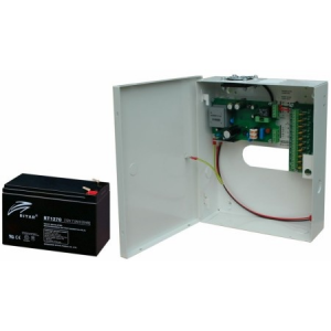 10.000mA fémházas SZÜNETMENTES tápegység, max. 10 kamerához, 12V DC, 12V/7Ah akkuval (kamerákhoz)