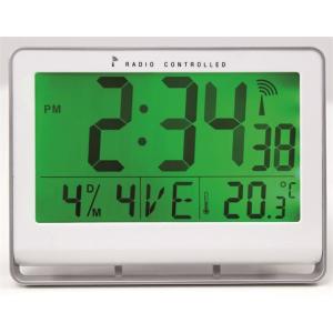 "ALBA Falióra, rádióvezérlésű, LCD kijelzős, 22x20 cm, ALBA ""Horlcdnew"", ezüst"
