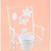Virágtartó állvány szék fehér 51cm
