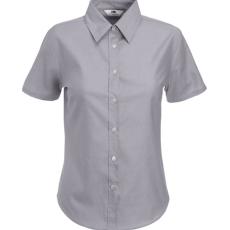 Fruit of the Loom FoL Ladies Oxford Short Sleeve Shirt oxfordkék