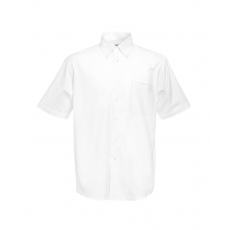 Fruit of the Loom FoL Short Sleeve Oxford Shirt, fehér