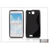 Haffner Alcatel One Touch Idol Ultra 6033 szilikon hátlap - S-Line - fekete