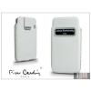 Pierre Cardin valódi bőrtok - Apple iPhone 4/4S - Type-4 - fehér