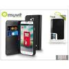 Muvit LG L90 D405 flipes tok kártyatartóval - Muvit Slim and Stand - black