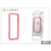 Gecko Apple iPhone 5 védőkeret - Bumper - Gecko Lianzoo - clear/red