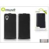 Muvit LG D821 Nexus 5 flipes tok képernyővédő fóliával - Muvit Slim - black