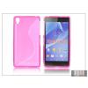 Haffner Sony Xperia Z2 szilikon hátlap - S-Line - pink