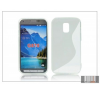 Haffner Samsung SM-G870 Galaxy S5 Active szilikon hátlap - S-Line - transparent tok és táska
