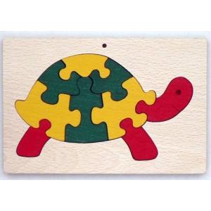 Teknős a keretben - fából készült puzzle