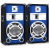 Skytec Passzív hangfalpár, kék megvilágítással