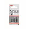 Bosch Csavarozó bit készlet extrakemény, 3 részes, PZ1, PZ2, PZ3, 89 mm Bosch 2607001761 hossz:89 mm