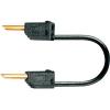 MultiContact Mérővezeték [ lamellás dugó 2 mm - lamellás dugó 2 mm] 0.6 m fekete MultiContact LK2-F 60cm sw