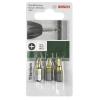 Bosch Bosch 3 részes Csavarozó bit készlet titánium (PZ) 2609255968 pozidrív hossz:25 mm