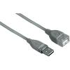 Hama USB 2.0 Hosszabbítókábel [1x USB 2.0 dugó A - 1x USB 2.0 alj A] 0.50 m szürke Hama