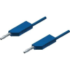Mérővezeték [ lamellás dugó 4 mm - lamellás dugó 4 mm] 2 m kék SKS Hirschmann MLN 200/2,5 kék