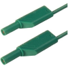 Biztonsági mérővezeték [ lamellás dugó 4 mm - lamellás dugó 4 mm] 0.5 m zöld SKS Hirschmann MLS WS 50/1 gn