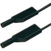 Biztonsági mérővezeték [ lamellás dugó 4 mm - lamellás dugó 4 mm] 0.5 m fekete SKS Hirschmann MLS WS 50/1 sw