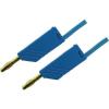 Mérővezeték [ lamellás dugó 4 mm - lamellás dugó 4 mm] 0.25 m kék SKS Hirschmann MLN 25/2,5 kék / blue Au