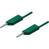 Mérővezeték [ lamellás dugó 4 mm - lamellás dugó 4 mm] 0.25 m zöld SKS Hirschmann MLN 25/2,5 gn