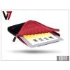 """Haffner Univerzális tablet táska 7,9"""" - V7 Ultra Protective Sleeve - fekete/piros"""