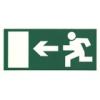 Menekülési útirányt jelző tábla - balra